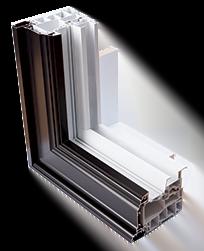 Coupe de fenêtre DUO - Aluminium et PVC